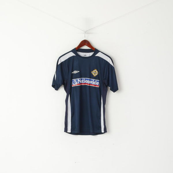 Umbro Men S Shirt Navy Irish Football Association Jeresy North Ireland Top