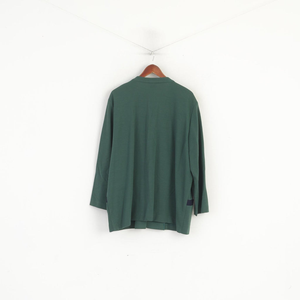 Vintage Mens 46 S Coat Black Trench Classic Double Breasted Wool Lined Mac