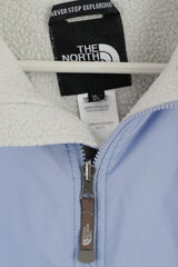 The North Face Womens XL Jacket Blue Fleece Lined Vintage Full Zipper Outdoor Top