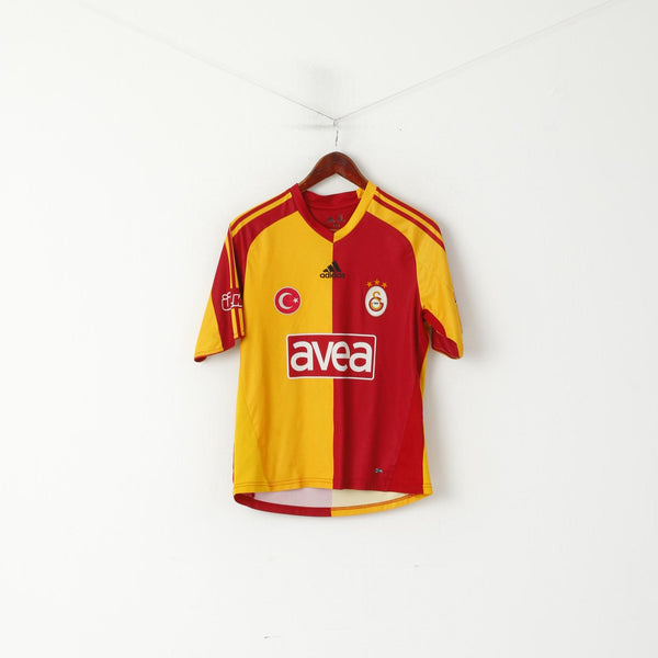 Adidas Youth 164 Shirt Yellow Galatasaray SK Football Club Turkey Jersey Top