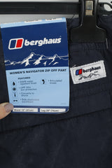 "Berghaus Womens 18 Trousers Navy Navigator Zip Off Pant Leg 29"" Outdoor"