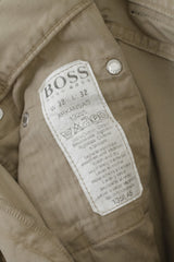 Hugo Boss Mens 32 / 32 Trousers Beige Cotton Arkansas Vintage Classic Pants