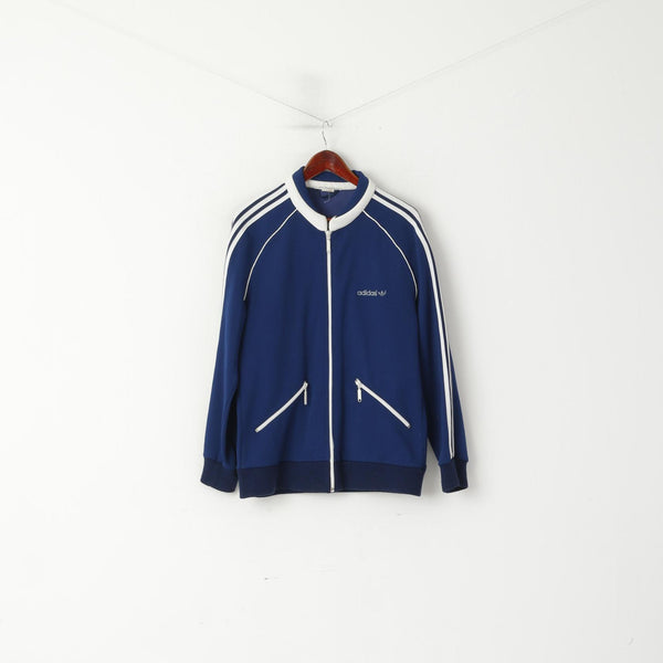 Adidas Real Vintage 70s Beckenbauer Men 52 L Track Jacket Navy Tracksuit Finland Top