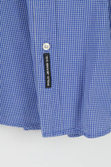 Polo Jeans Co. Ralph Lauren Mens XL (XXL) Casual Shirt Blue Check Cotton Long Sleeve Top