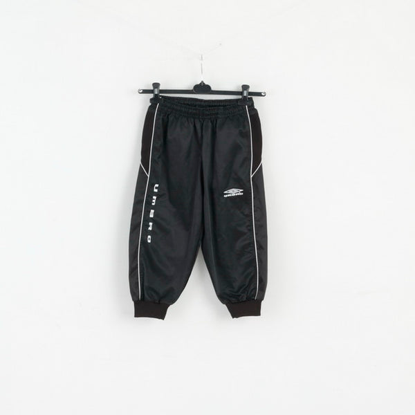Umbro Boys 11 - 12 Age 152 Cropped Trousers Romero Knickers Black Football