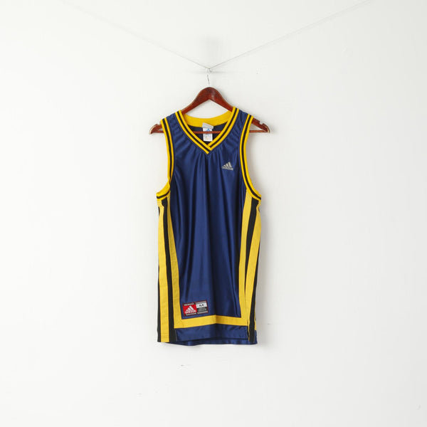 Adidas Men M Sleeveless Shirt Navy Basketball Teamwear Performance Vintage Vest