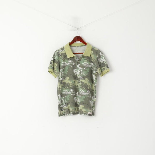 Red Dot Men S Polo Shirt Green Cotton Army Printed Short Sleeve Top