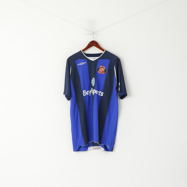 Umbro Sunderland AFC Men XXL Shirt Blue Football Club Jersey Top