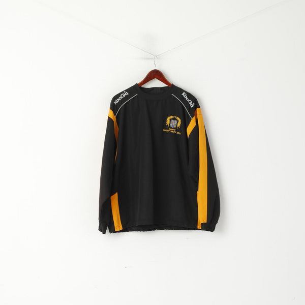 KooGa Men L Pullover Jacket Black Old Rutlishians ORRFC Mighty Ruts 2011 RFU Louis Top