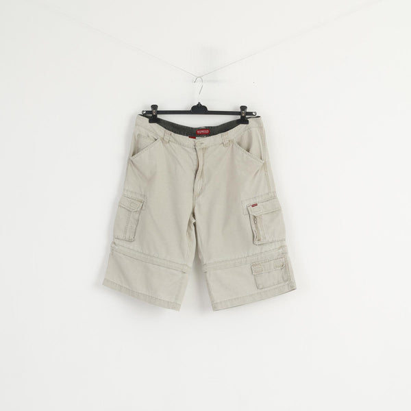 Redwood Men 54 Shorts Beige Cotton Outdoor Sportswear Combat Cargo Casual