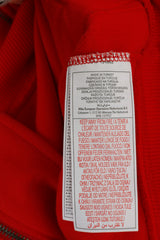 Nike Men XL 188 Sweatshirt Red Cotton Full Zipper Team Logo Active Sportswear