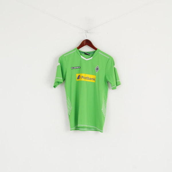 Kappa Borussia Mönchengladbach Youth 164 Shirt Green Football Jersey Top