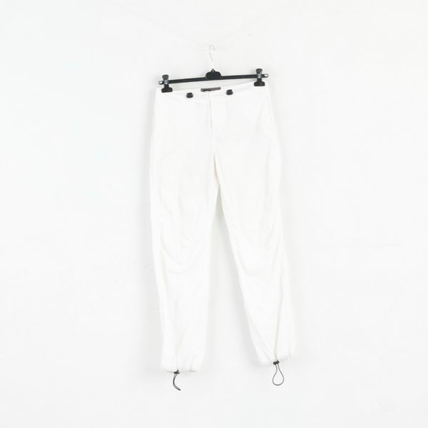 CAT Womens S Trousers White Castro Cotton Blend Lightweight Pants