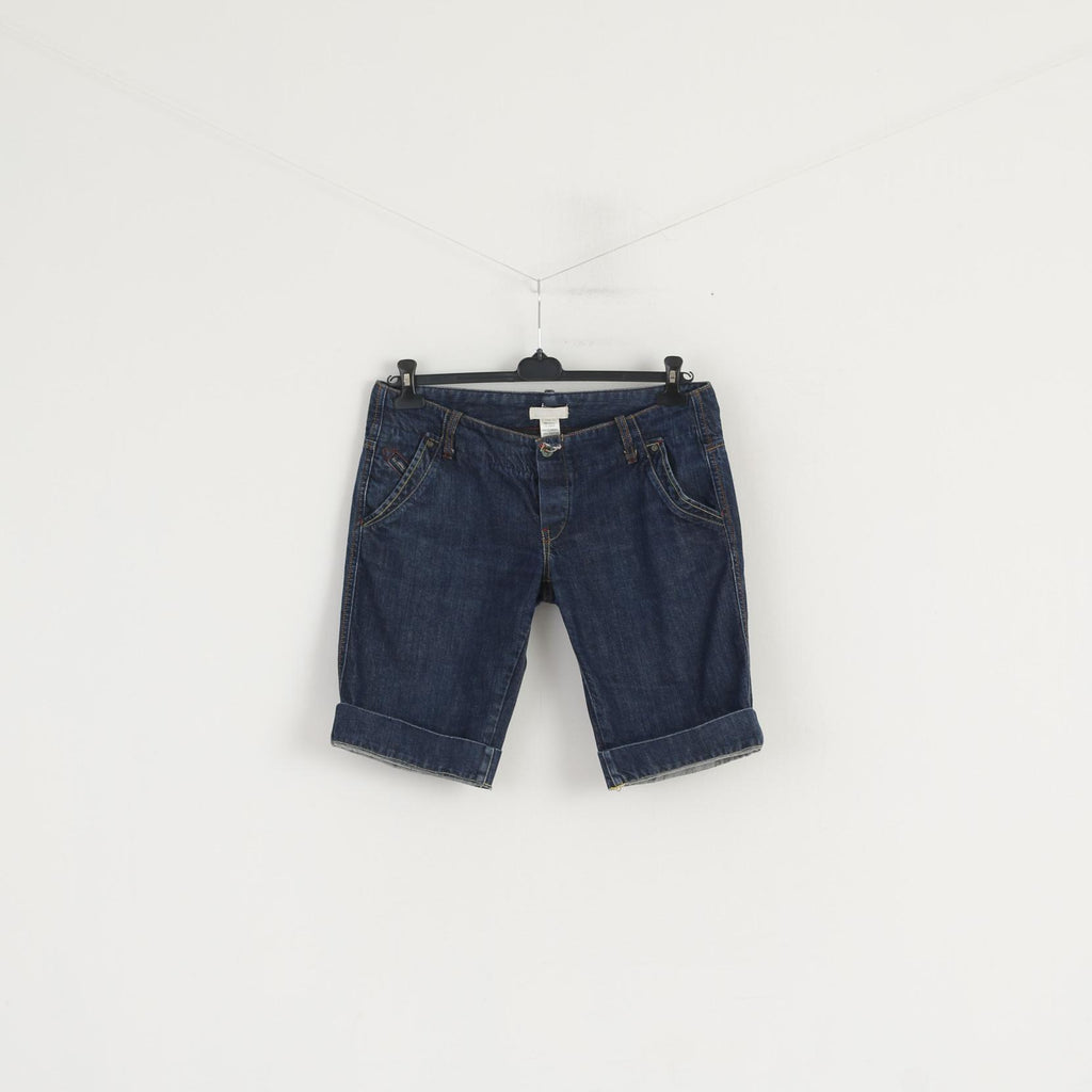 Diesel Industry Women 32 Shorts Navy Denim Cotton Low Waist Summer