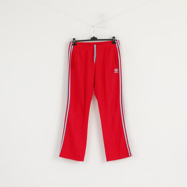 Adidas Women 42 XL Sweatpants Raspberry 3 Stripe Retro Training Active Trousers