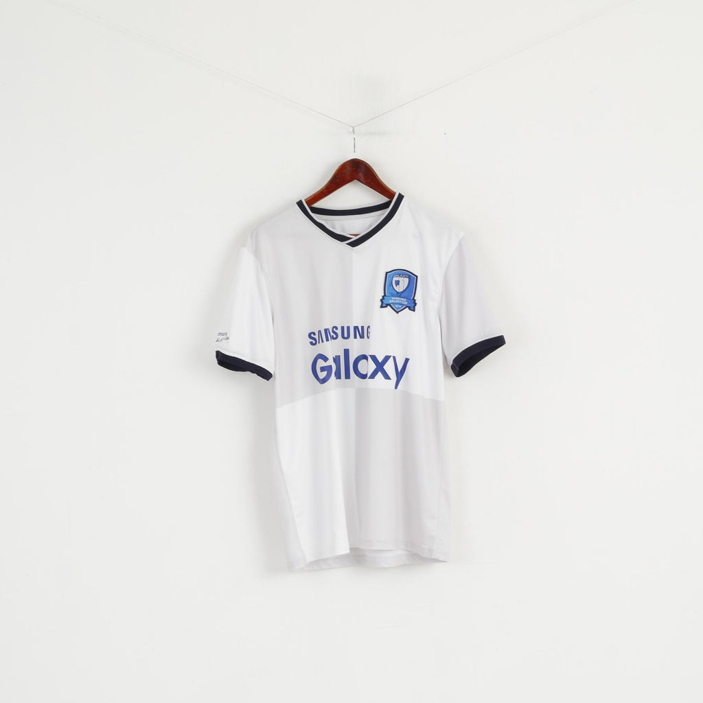 Samsung Men M Shirt White Shiny Samsung Galaxy Cup 2015 Sport Jersey Top