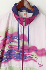 Triumph Women M Jacket Pink Nylon Vintage Sportswear Waterproof Zip Up Festival Track Top