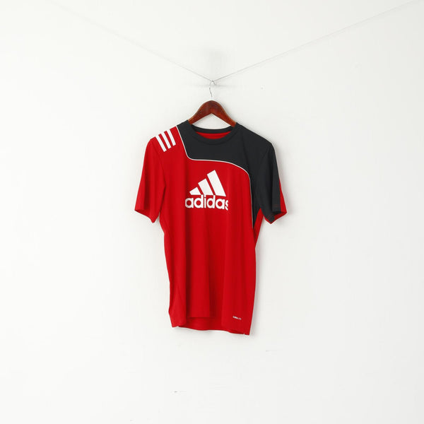 Adidas Youth  15-16 Age 176 Shirt Red Training Football Jersey Big Logo Top