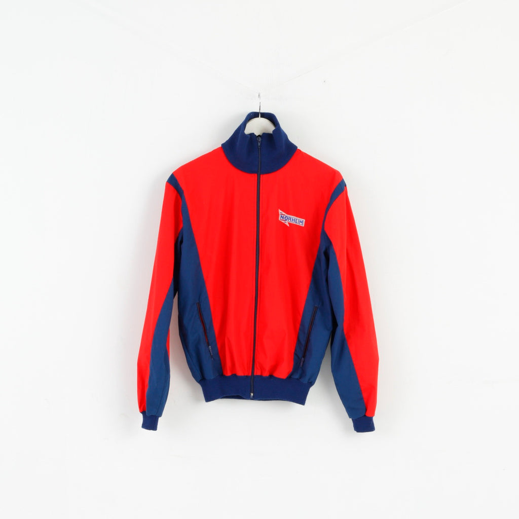 Norheim Men S/M Jacket Red Navy Vintage Zip Up Lightweight Oldschool '90 Top