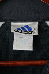 Adidas Men L Sweatshirt Navy Vintage Basketball '90 Retro Full Zipper Athletic Track Top