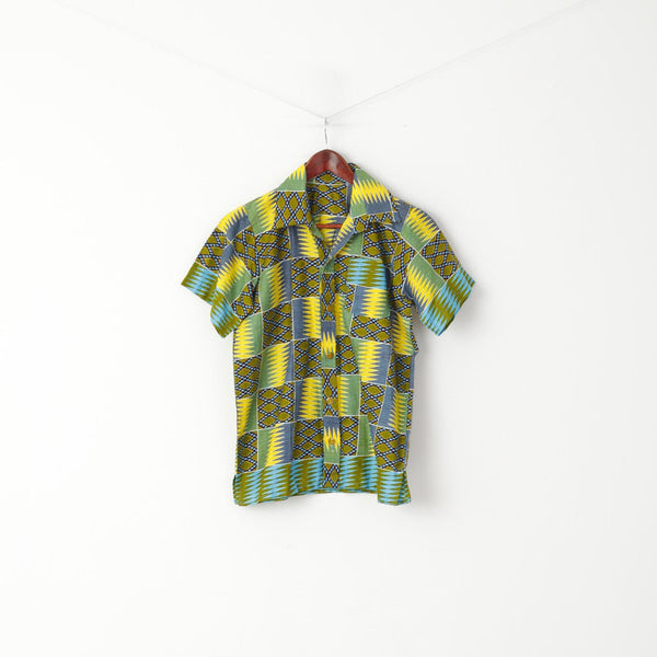 Saitino Boys 14 Age Casual Shirt Multicoloured Handmade Short Sleeve Summer Top