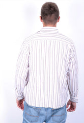Faconnable Jeans Mens M Casual Shirt Striped - RetrospectClothes