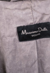 Massimo Dutti Womens 40 Top Suit Brown Cotton Blazer - RetrospectClothes