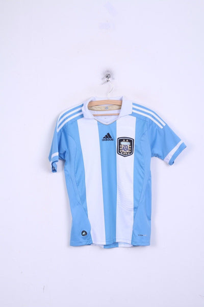 Adidas AFA Boys 14 age L Shirt Blue White Sport Training Argentine Football