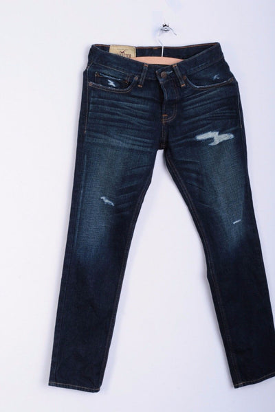 Hollister California Womens W26 L28 Trousers Jeans Skinny Cotton Distressed