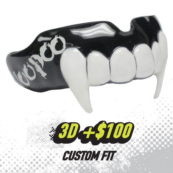 Custom Rugby Mouthguard with Fangs by Damage Control