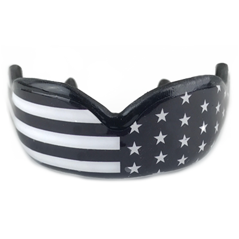 Black and White American Flag Mouth Guard
