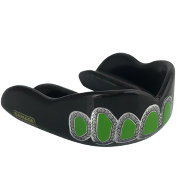 Black HI Green Candy Grill - Damage Control Mouthguards