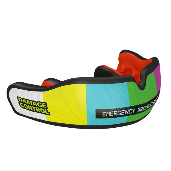 Emergency Broadcast System Custom Mouthguard - Damage Control Mouthguards