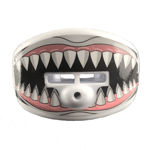 Shark teeth pacifier mouthpiece
