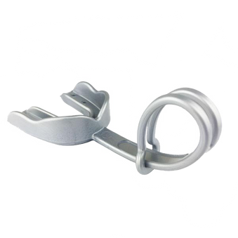 Silver Mouthpiece (EI) w/Strap - Damage Control Mouthguards