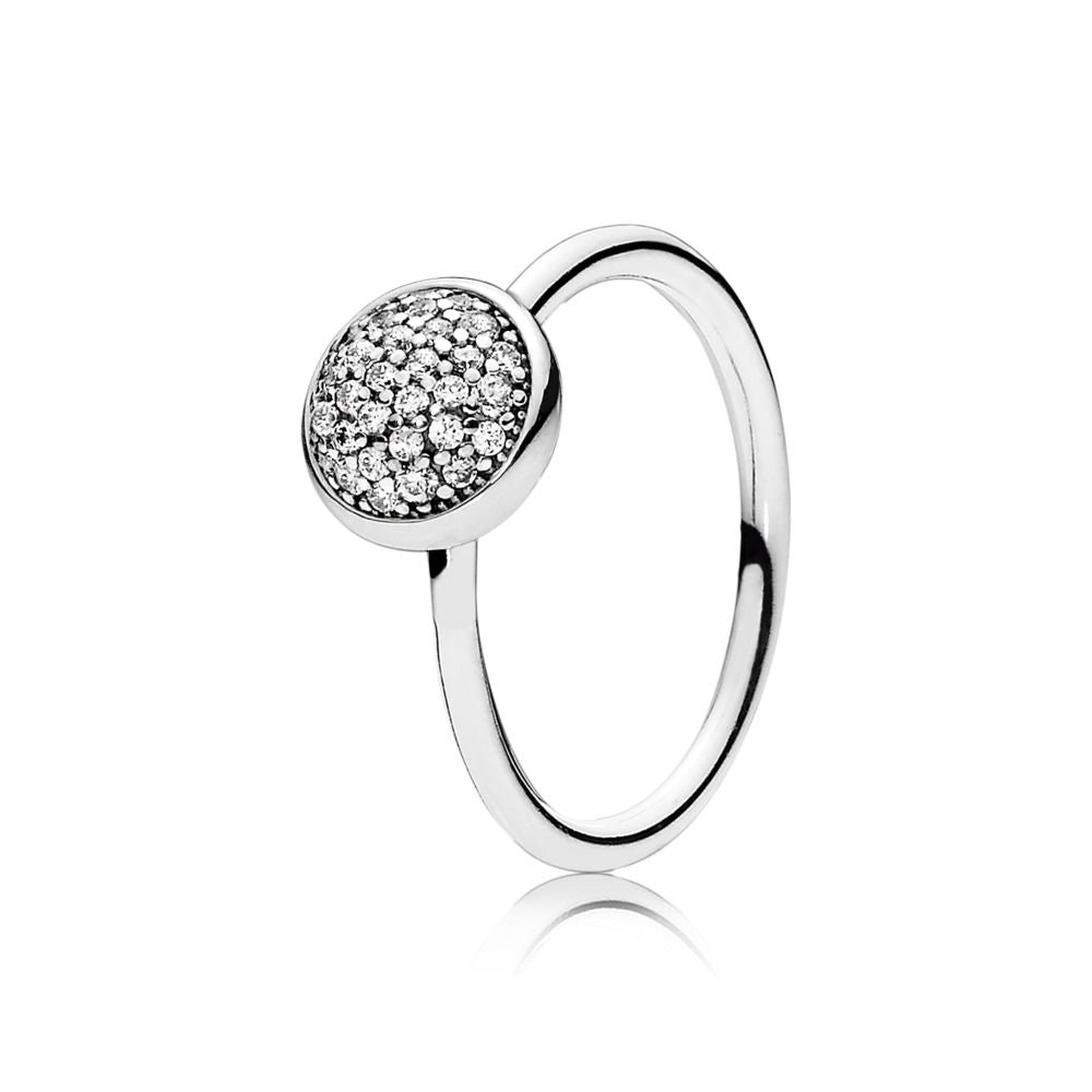 PANDORA Sterling Silver Ring Dazzling Droplet, Clear CZ. 191009CZ (Choose free two-day shipping at checkout)