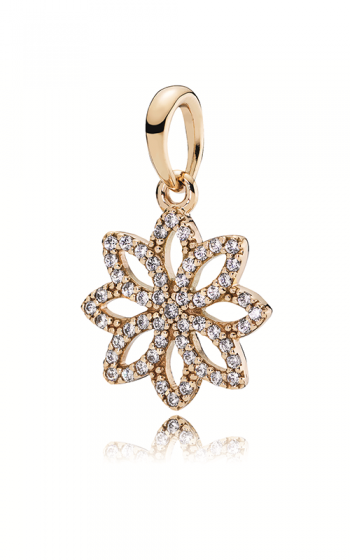Pandora 350179CZ 14K Pendant Lace Botanique with Clear CZ. (Choose free two-day shipping at checkout)