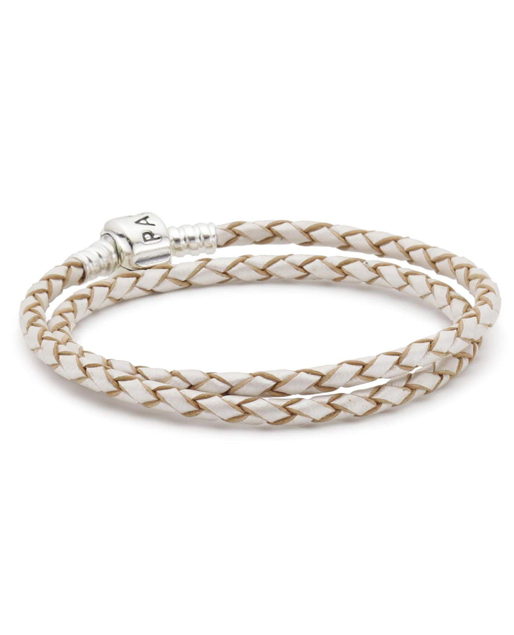 Pandora 590705CPL Champagne Leather Necklace/Double Bracelet. (Choose free two-day shipping at checkout)