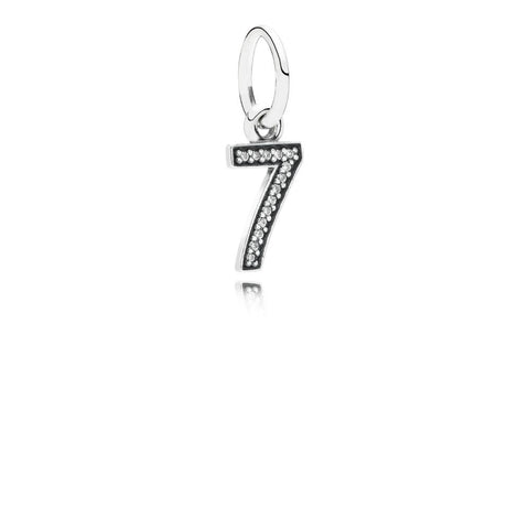 Pandora Sterling Silver Dangle with CZ: Number Seven (Free Two-Day Shipping at Checkout)