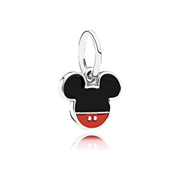 PANDORA Disney Sterling Silver Mickey Icon Dangle with Enamel. 791461ENMX (Choose free two-day shipping at checkout)