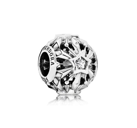 Pandora 791563CZ Disney Sterling Silver Frozen Snowflake Openwork Charm with CZ. (Choose free two-day shipping at checkout)