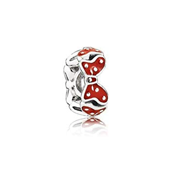 PANDORA 791582EN09 Disney Sterling Silver Minnie Bow Spacer with Enamel (Choose Free Two-Day Shipping at Checkout)