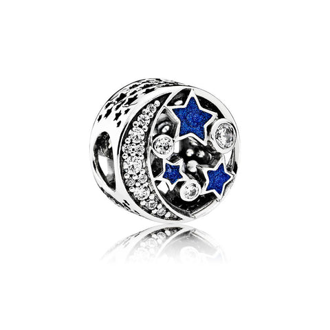 PANDORA Vintage Night Sky with Shimmering Midnight Blue Enamel and CZ. 791992CZ (Choose free two-day shipping at checkout)