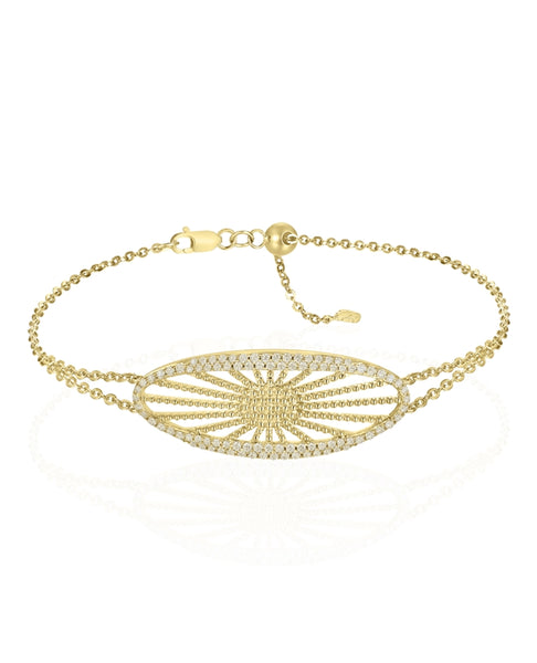14K Chinese Sun Bracelet (Choose free two-day shipping at checkout)
