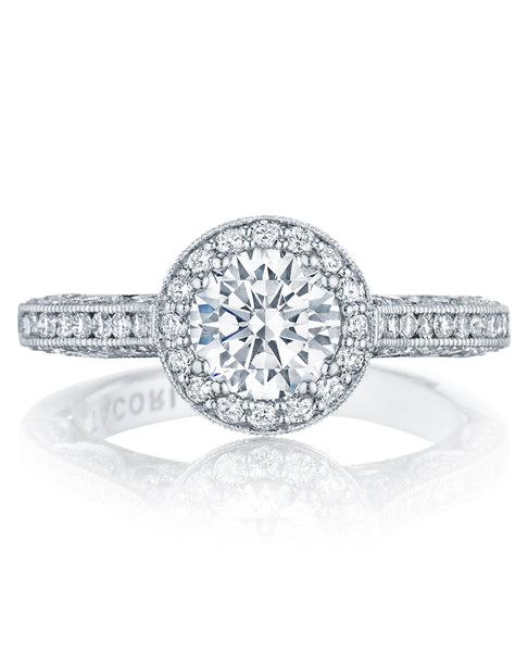Tacori Classic Crescent Engagement Ring HT2550RD6.5W