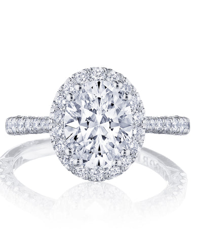 Tacori Petite Crescent Engagement Ring HT2571OV8.5X6.5 (Choose free two-day shipping at checkout)