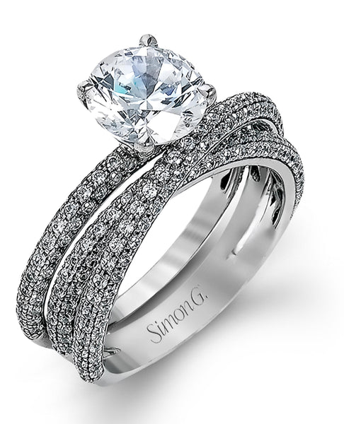 Simon G. MR1577 Engagement Ring & Wedding Band Set (Choose free two-day shipping at checkout)