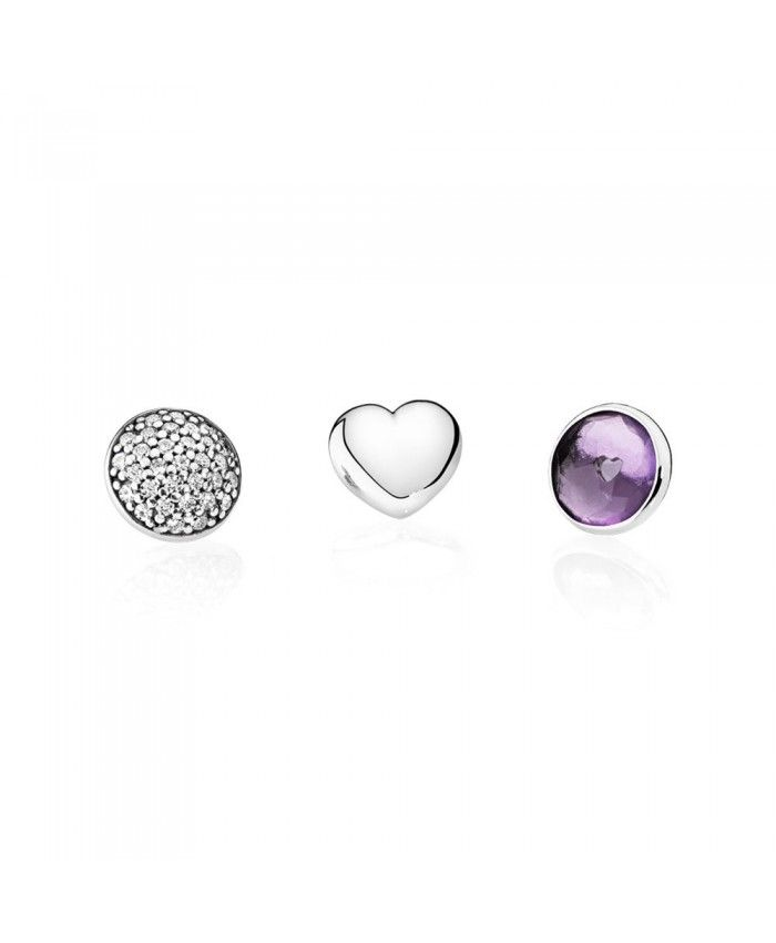 PANDORA 792091SAM February Petites, Synthetic Amethyst & Clear CZ. 792091SAM (Choose free two-day shipping at checkout)