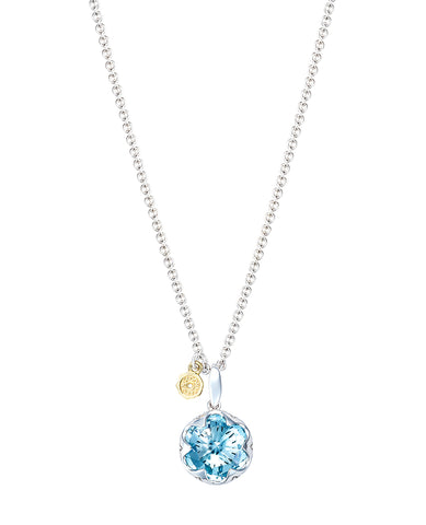 Tacori SN19902 Sky Blue Topaz Necklace (Choose free two-day shipping at checkout)