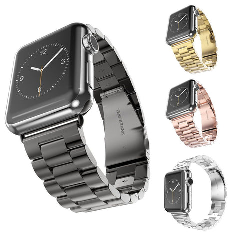Quality Stainless Steel Watch Band for Apple Watch, Link Bracelet with Classical Lock, 38mm, 42mm